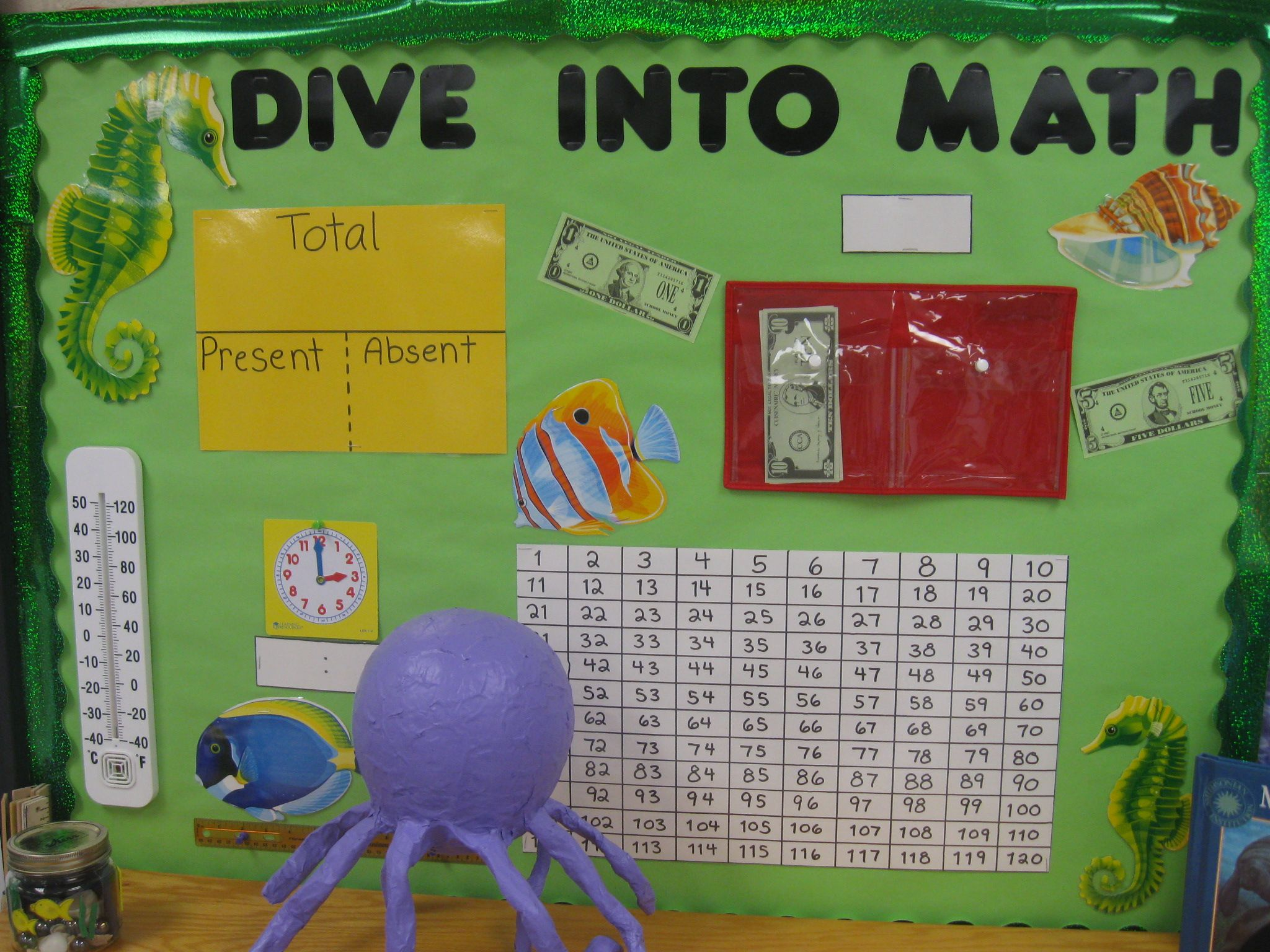 Ocean Themed Math Bulletin Board