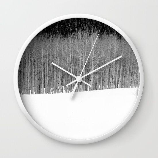 winter Wall Clock