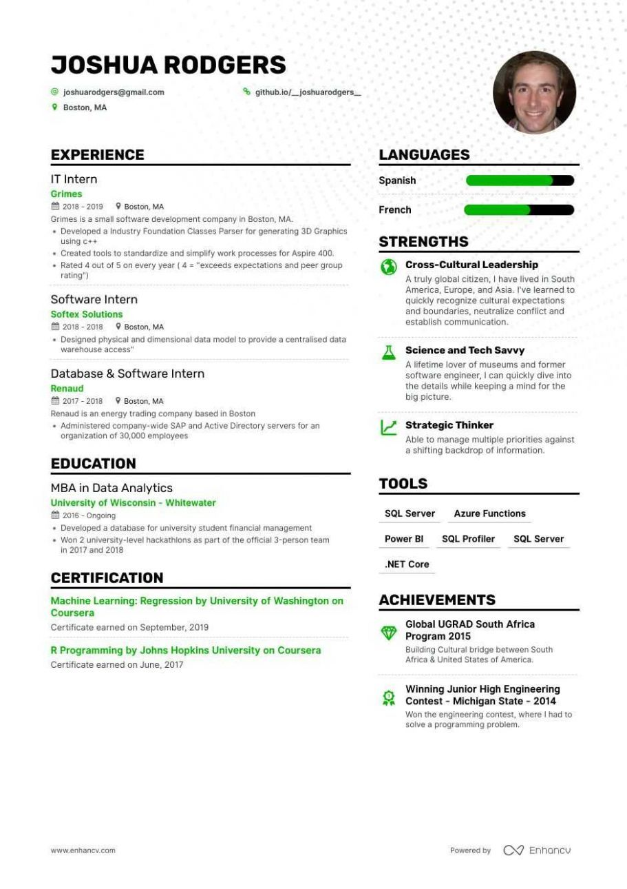 9 Resume Template Computer Science in 2020 Computer