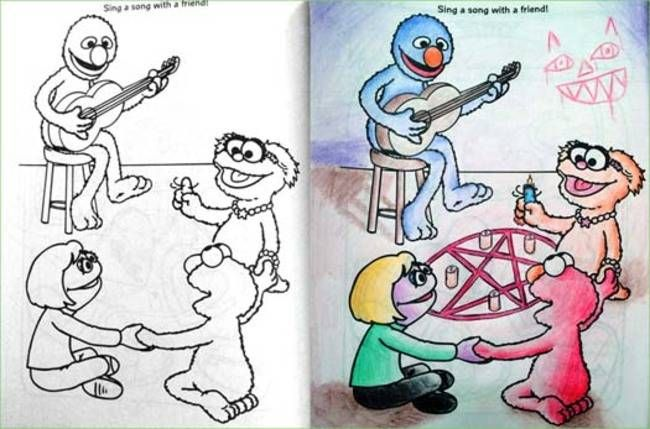 From 29 Of The Most Disturbing Things Drawn In Childrens Coloring Books