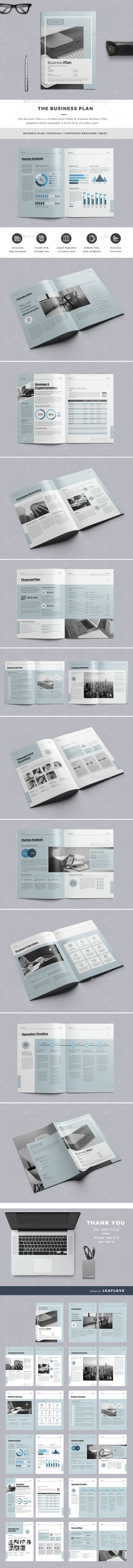 The Business Plan Template InDesign INDD. Download here: http ...
