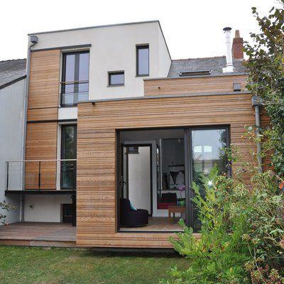 Double greffe réussie pour vivifier l\u0027espace Architecture - peinture de facade maison
