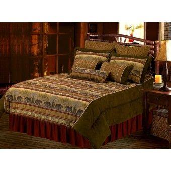 Best Luxury Chenille Suede Bear Comforter Set Cabin Bedding 400 x 300