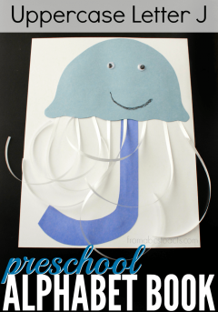 Add the uppercase letter J to your preschool alphabet book with this adorable construction paper jellyfish craft!