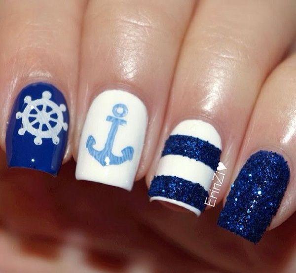 anchor nail art - 60 Cute Anchor Nail Designs <3 <3 - 60 Cute Anchor Nail Designs Nails Pinterest Anchor Nail