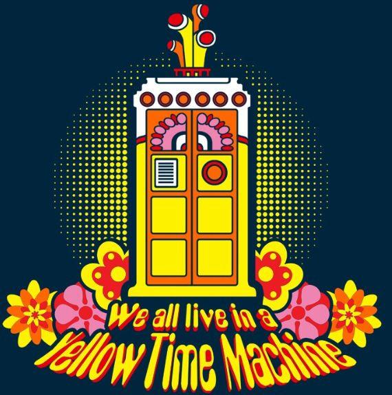 Yellow Time Machine #doctorwho #beatles #tardis @Perlin Agranati Agranati Agranati
