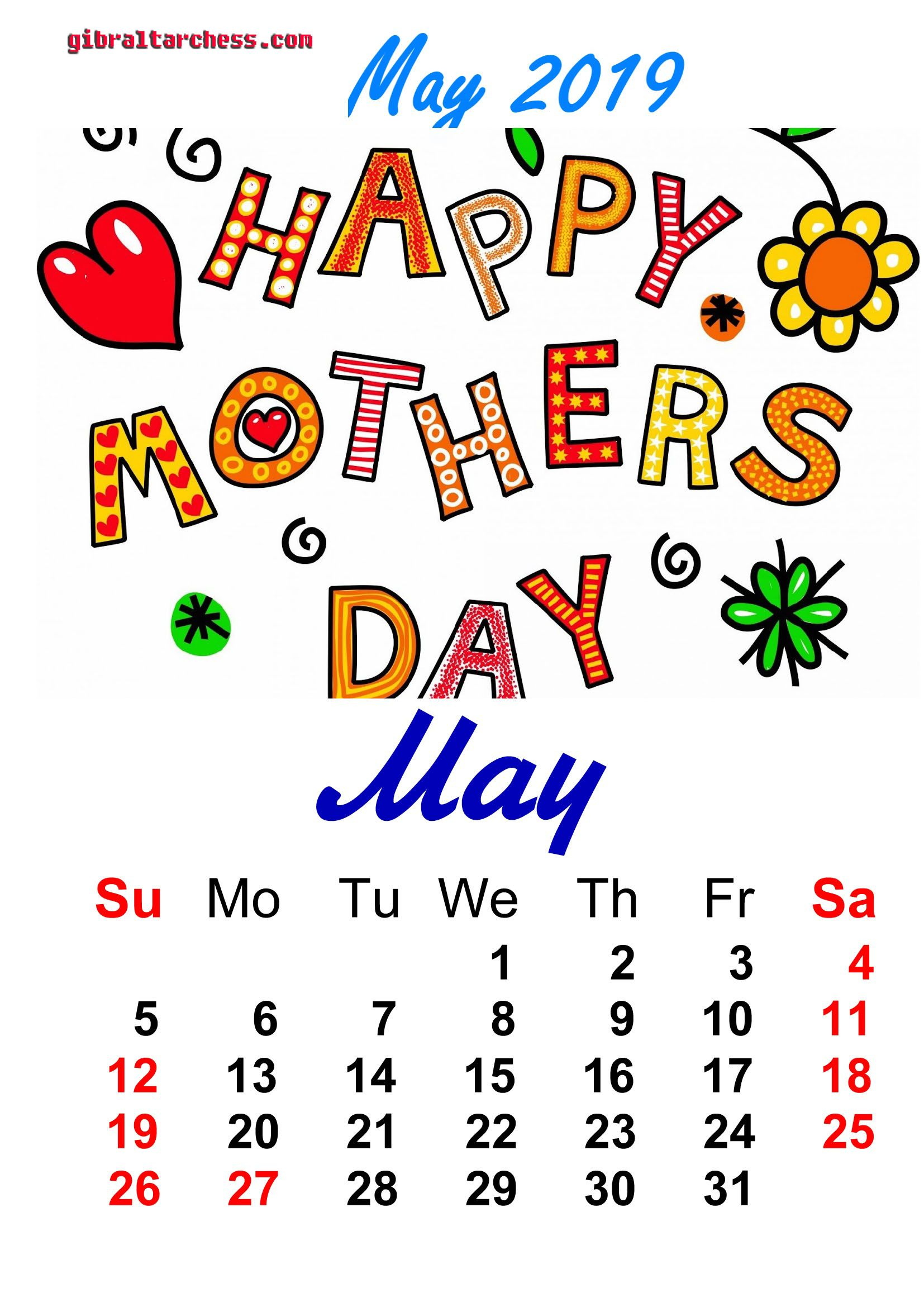 May 2019 Holidays Calendar Holiday Calendar 2019 Calendar