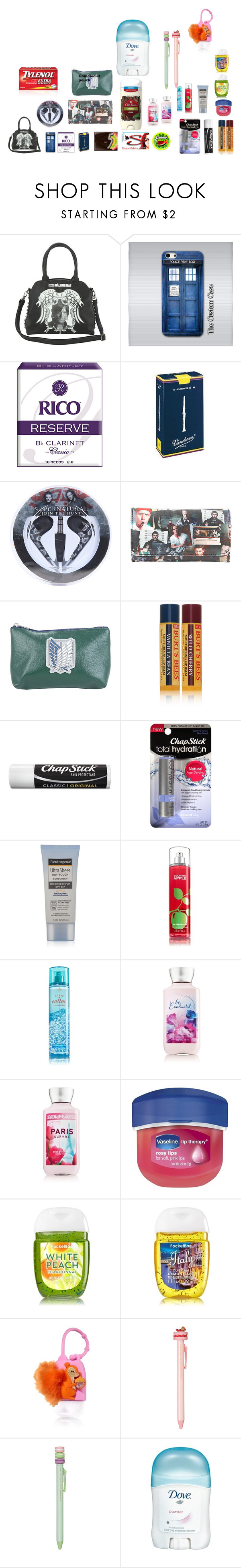 """""""marchingbandstorypt1purse"""" by symphoney on Polyvore featuring beauty, Rock Rebel, Samsung, Reeds Jewelers, Burt's Bees, Chapstick, Neutrogena, Therapy and Ladurée"""