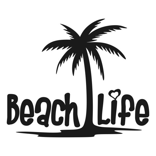 Download Beach Life Svg Cuttable Design | Palm tree silhouette ...