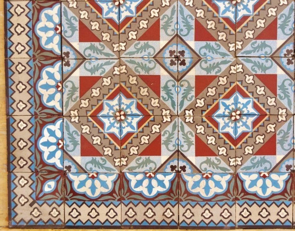 Carrelage Ancien Art Nouveau Surface De M² Circa Frey - Carrelage ancien