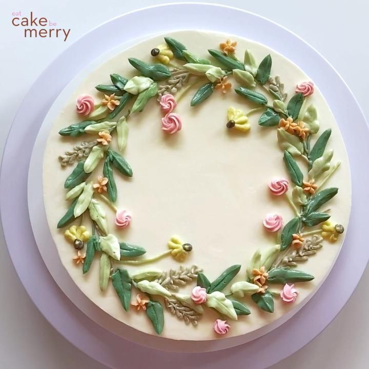 Buttercream Wildflower Wreath Cake