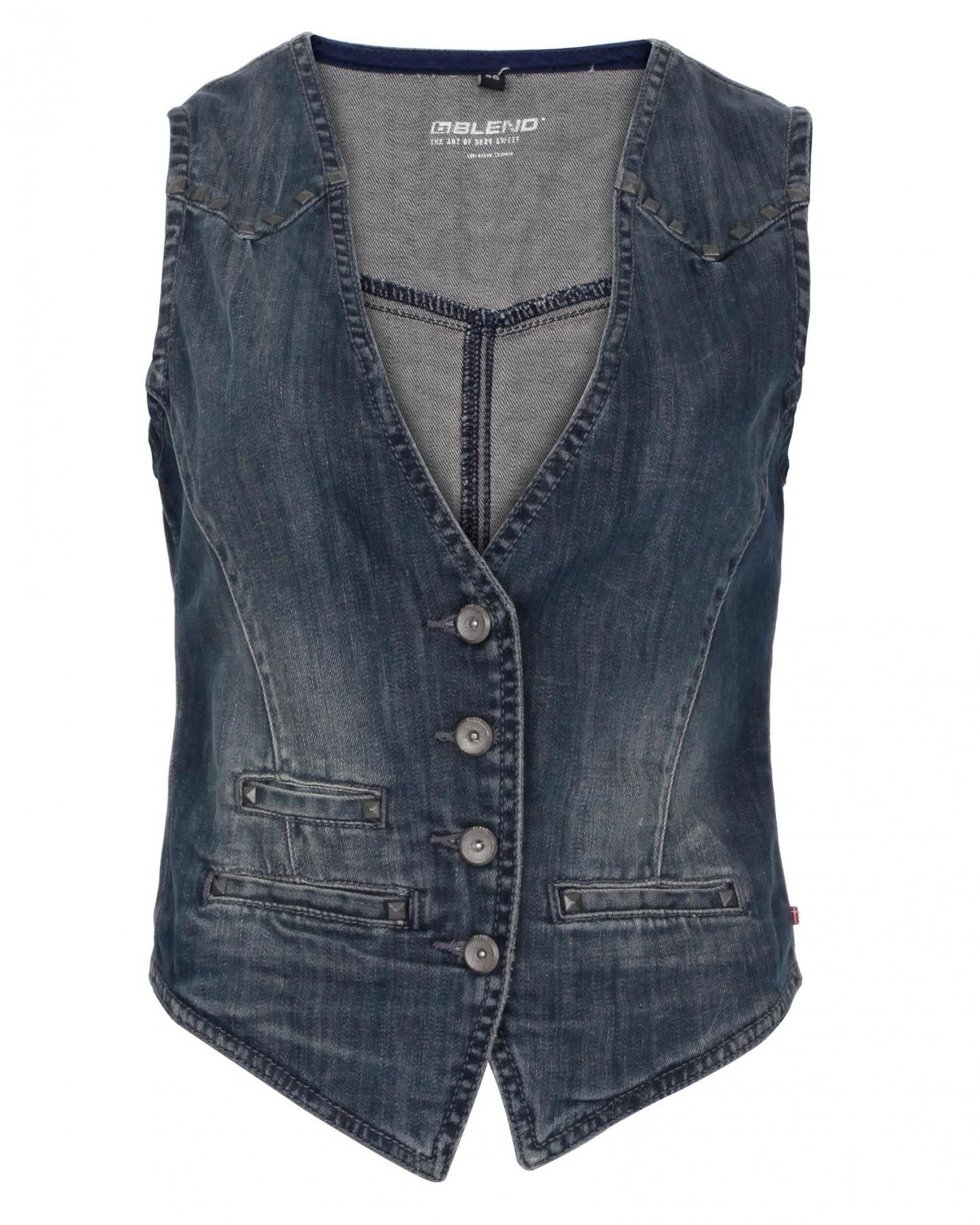 Denim Waistcoats make a big style statement! Pair it along a light scarf in contrast (color) to make the the right impact! Pic->blueinc.co.uk