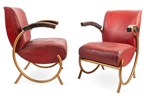One Kings Lane - Furniture & Accessories - Art Deco French Tubular Chairs, Pair, I