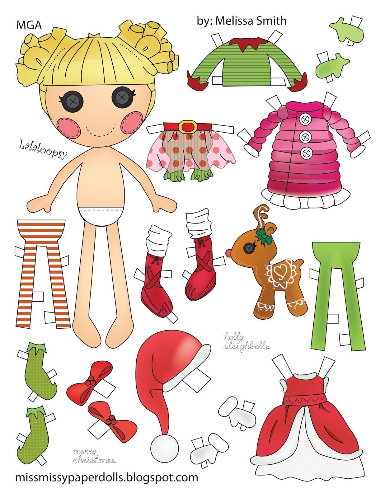 Holly Sleighbells | Muñecas de Papel 30 | Pinterest | Paper dolls ...