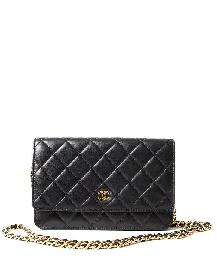 d12a5f9e6546 secondhand authentic chanel woc wallt on chain portefeuille quilted lambskin