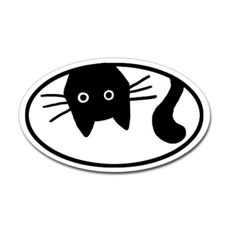 Whiskers the cat oval decal