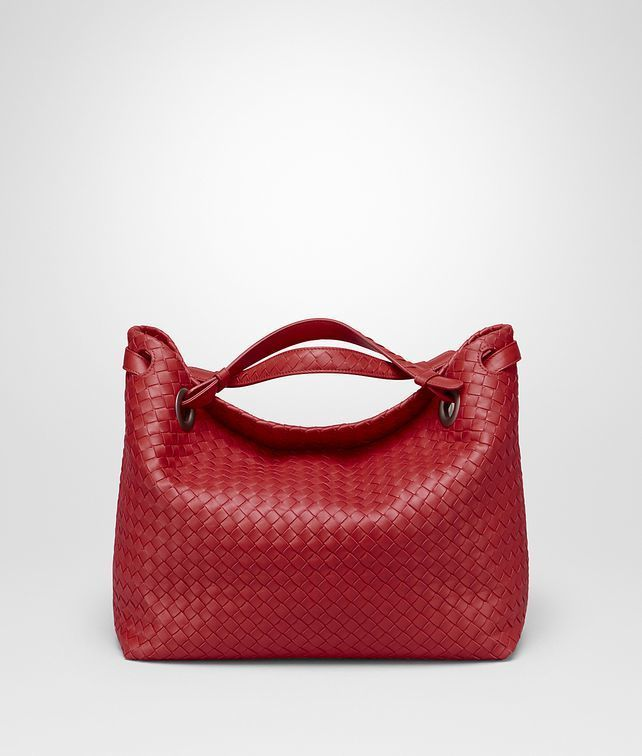 China Red Intrecciato Nappa Medium Garda Bottega Veneta Bag ... 06a3796ef9e3e
