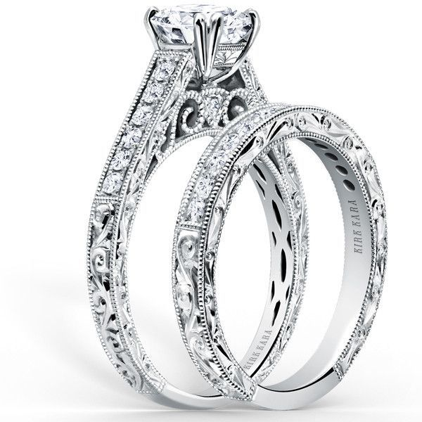 Kirk Kara Handcrafted XO Diamond Engagement Ring From The