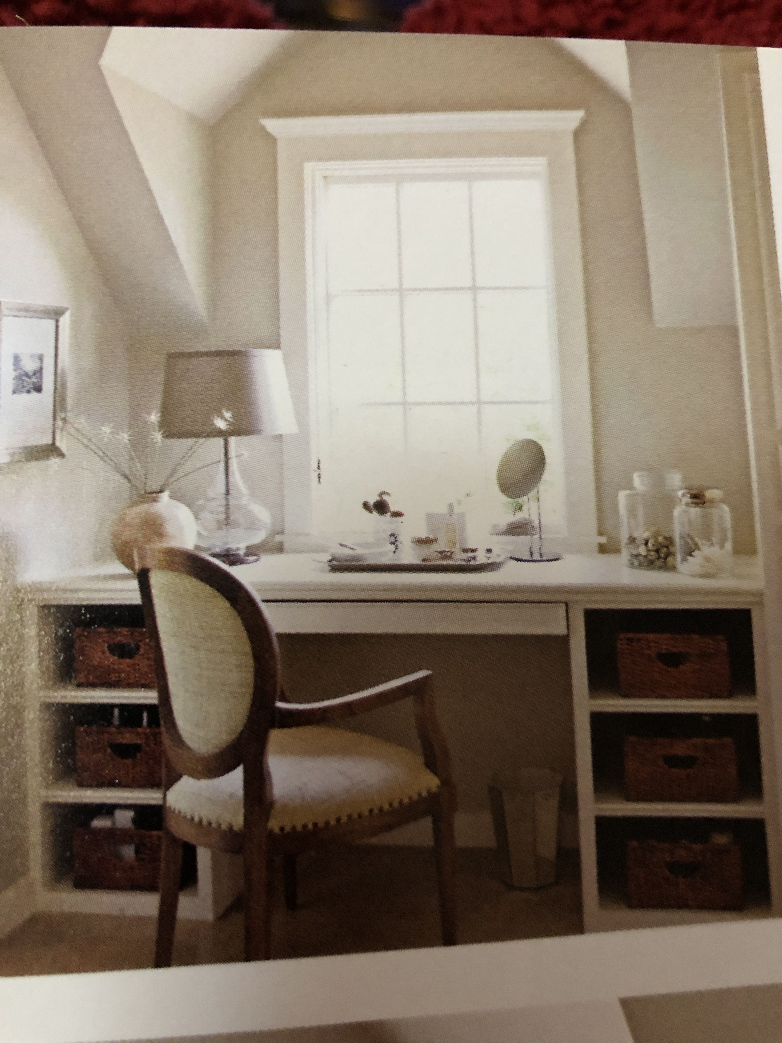 Desk or vanity area in a Dormer window in 2020 Dormer