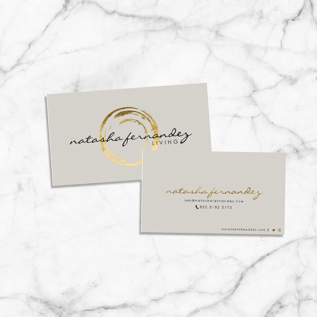 Luxe Gold Painted Circle Designer Business Cards - Ready to ...