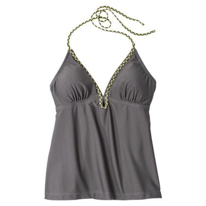 CONVER Braided Tankini Top Grey Tint
