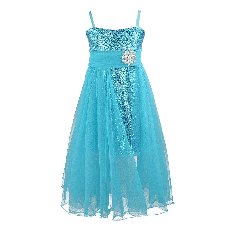 Flower Girls Dress, #Party #wedding #Frozen style #Elsa dress (2-12 ...