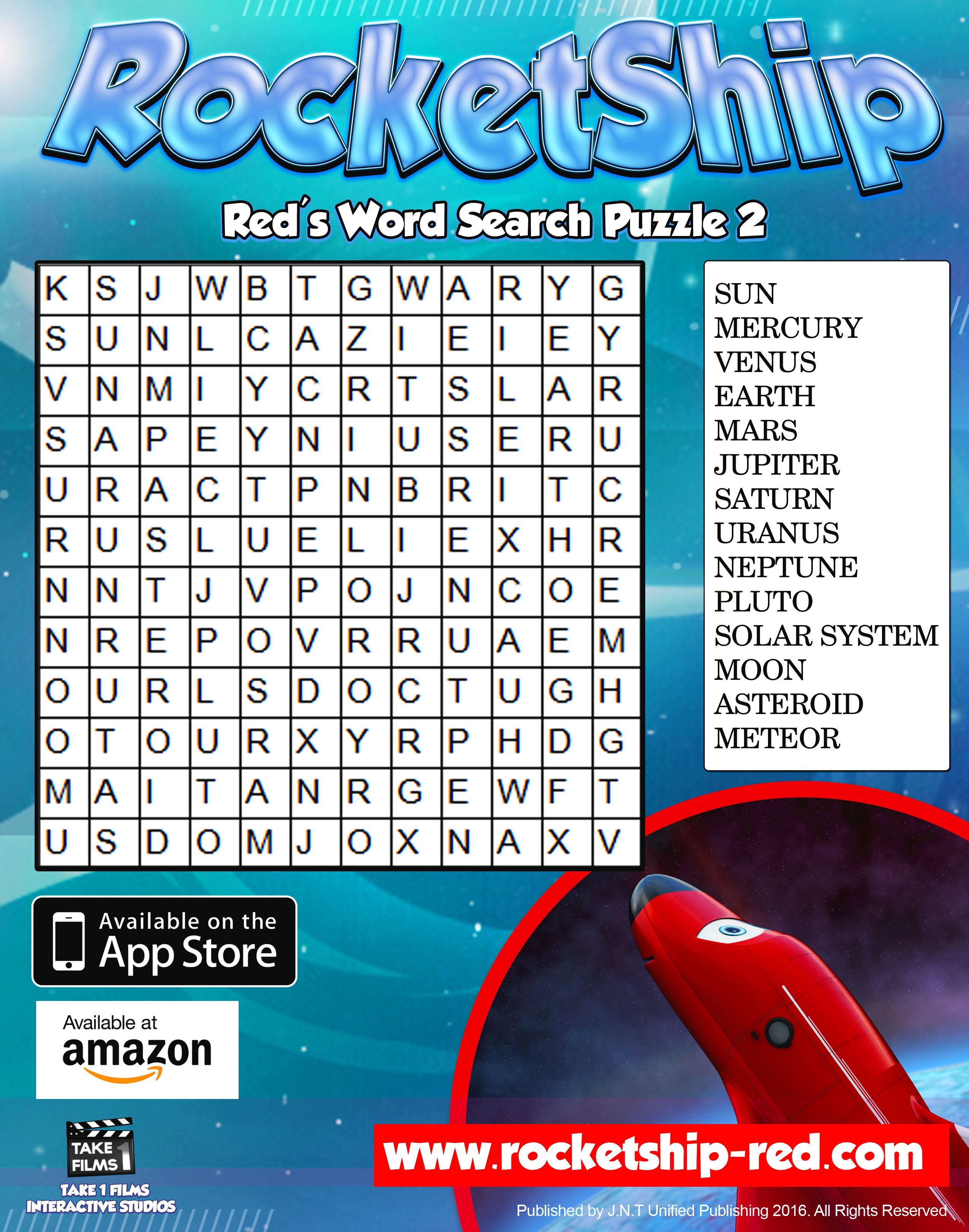 RocketShip Activity 6 Red's Word Search Puzzle 2
