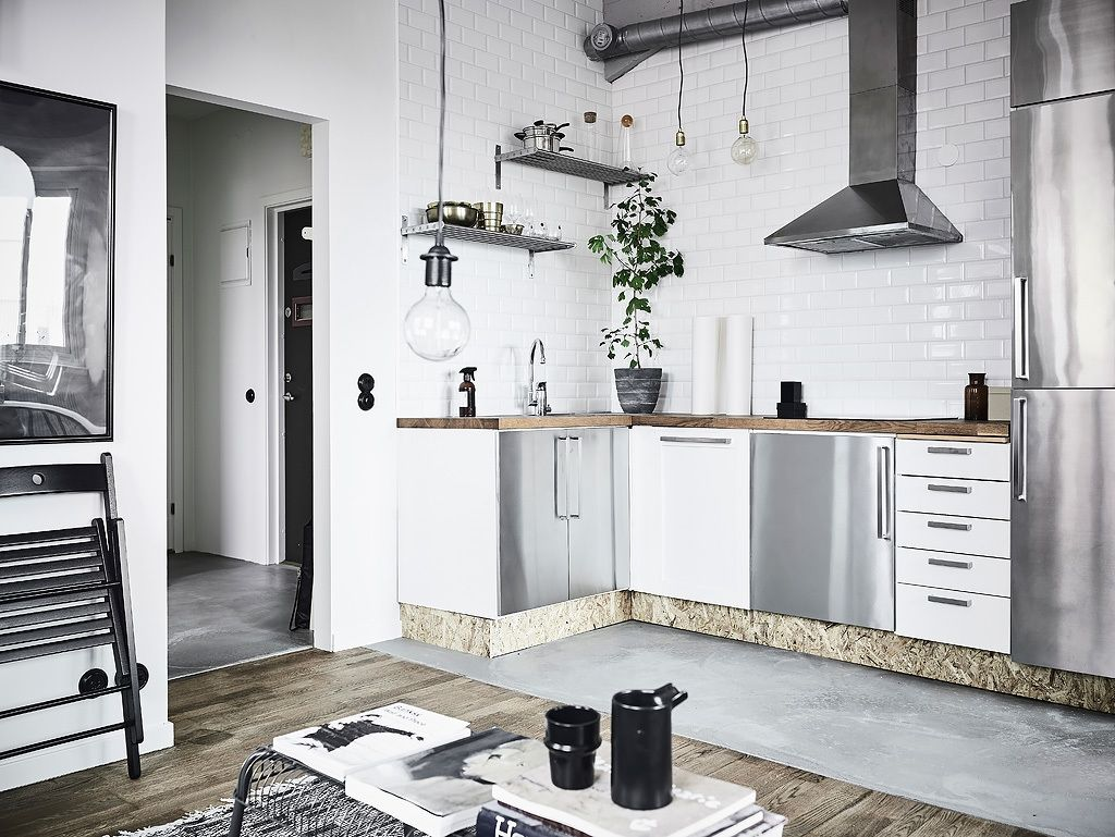 Klein Keuken Industriele : Klein keuken industriele modern kleine keuken industrieel het