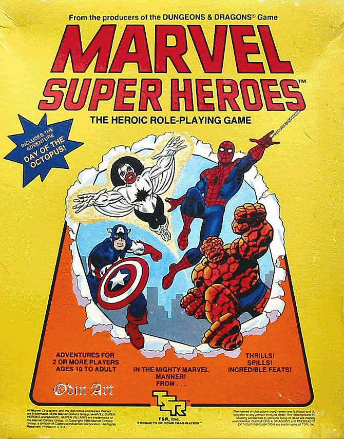 Marvel Super Heroes RPG (1st Edition) by TSR  | Role Playing Games