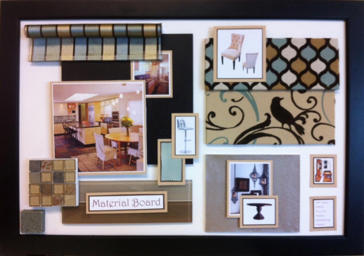 interior design material boards Material Board Kitchen Bath 2