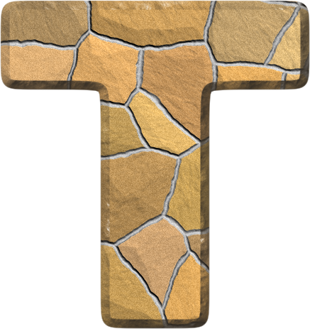 Presentation Alphabets Stone Wall Letter T Letter Wall Alphabet Stone Wall