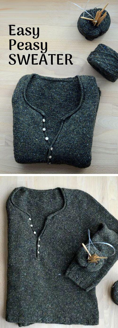 Photo of Enkel rask, enkel strikket genser – gratis mønster