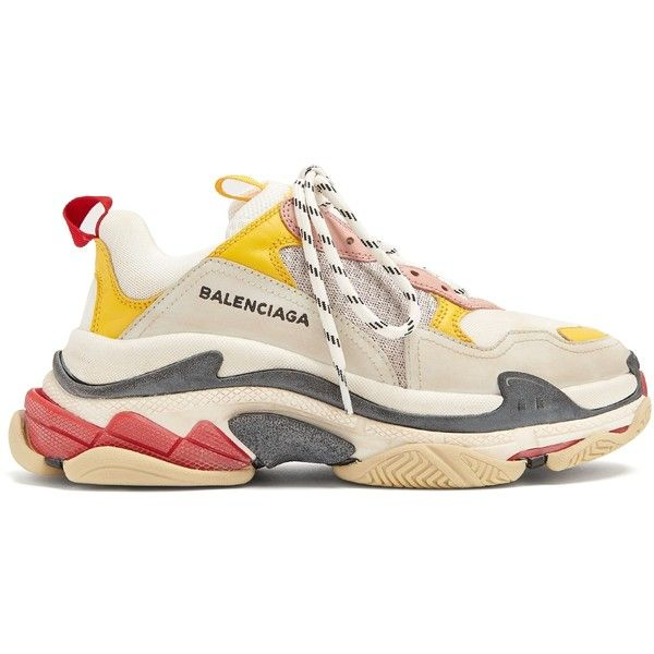 Balenciaga Triple S low-top trainers ($850) ❤ liked on Polyvore featuring  shoes