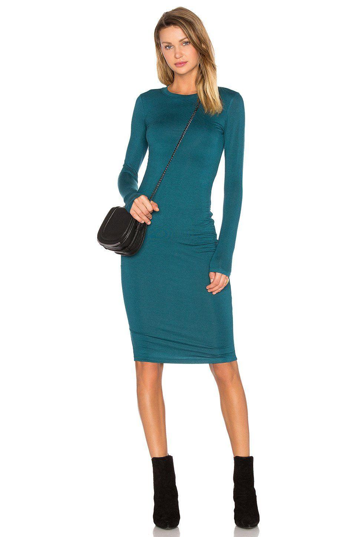 39278fb4de0b Long Sleeve Midi Dress -Teal