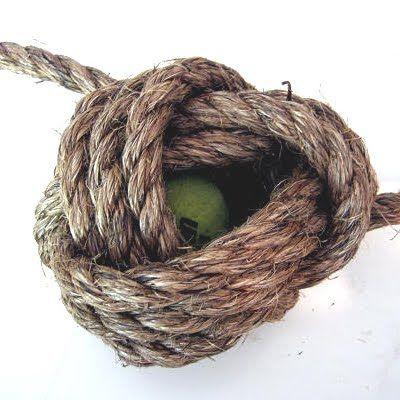 DIY knot doorstop
