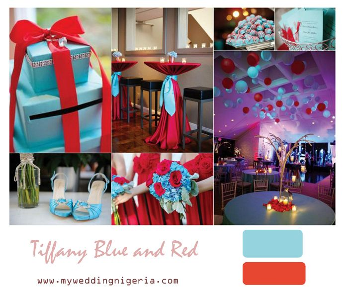 Blue And Red Wedding Ideas: Wedding Color Scheme Tiffany Blue And Red