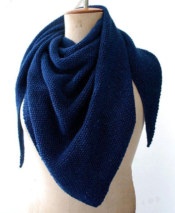 daaaef9ff10 brei patroon punt sjaal | kötni / knit - Sjaal breien, Breien en Sjaal