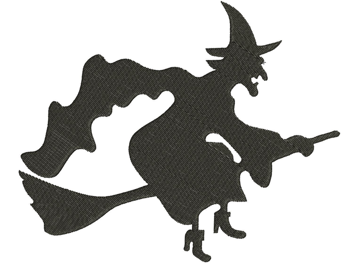 Witch Machine Embroidery Designs Halloween Witch Embroidery Etsy Witch Silhouette Halloween Witch Decorations Halloween Clipart