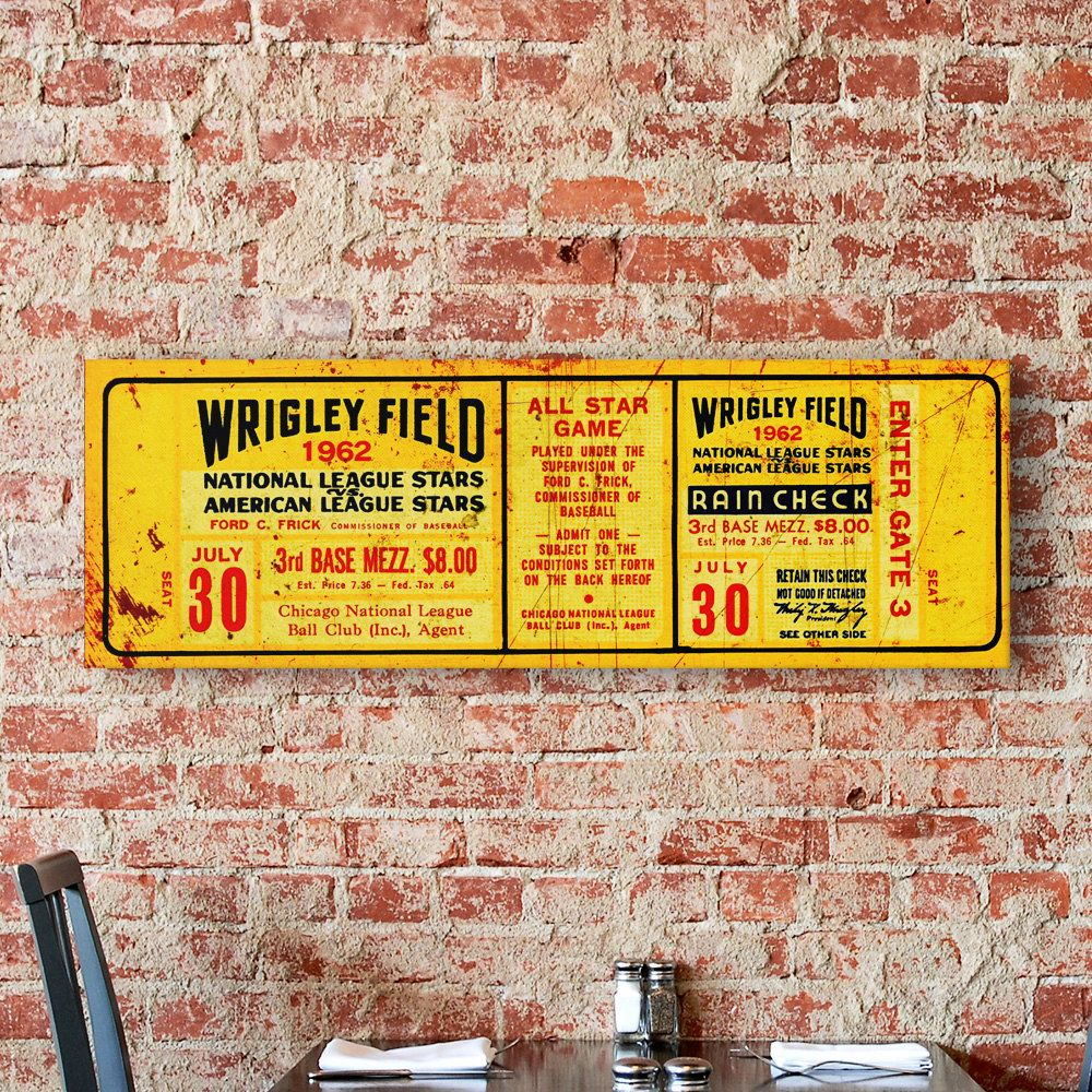 Vintage Chicago Baseball Ticket Wall Art on by DesignOutfitters ...