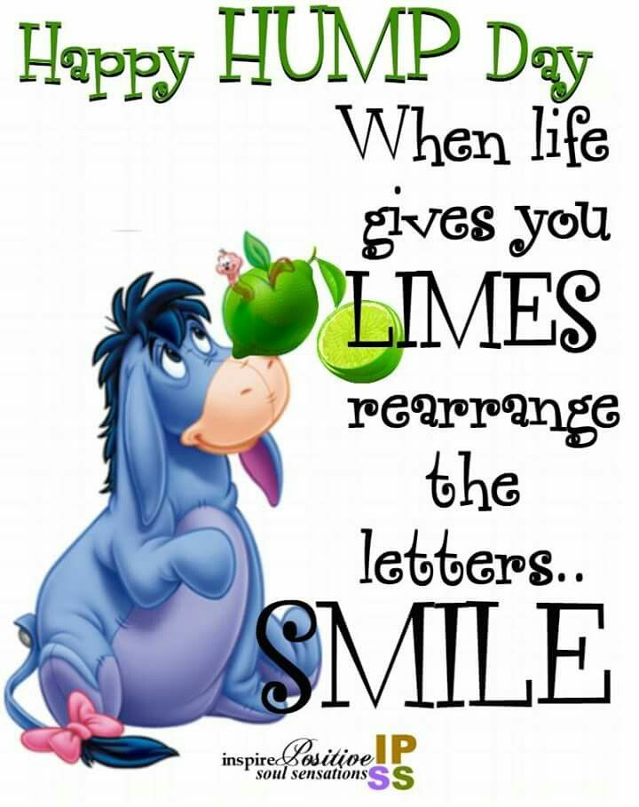 Happy Hump Day Happy Wednesday Quotes Eeyore Quotes Morning Quotes Funny