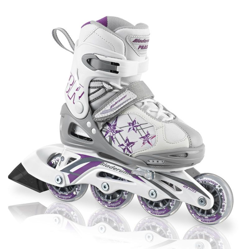 2081b85c641c Cool Girl Skates from Rollerblade that adjust 4 full sizes! See them at  Orbit s Skate Shop. We are a Rollerblade Dealer. These Phasers adjust 4  sizes!