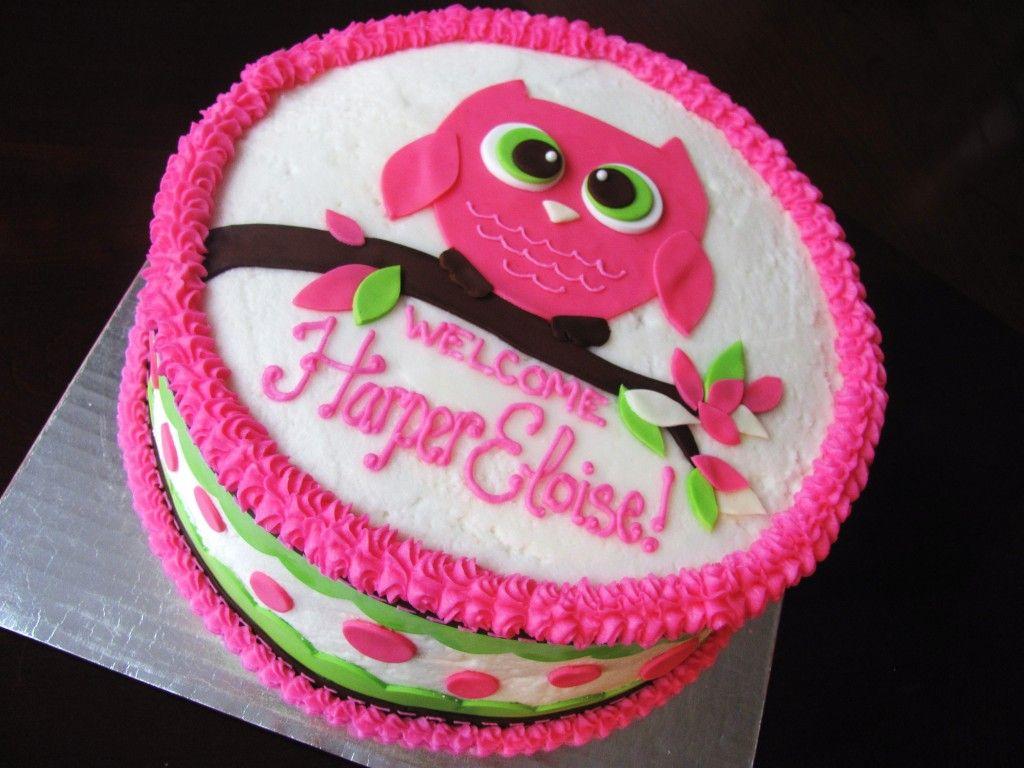 Owl Birthday Cakes For Girls Easy Owl Birthday Cake Toppers