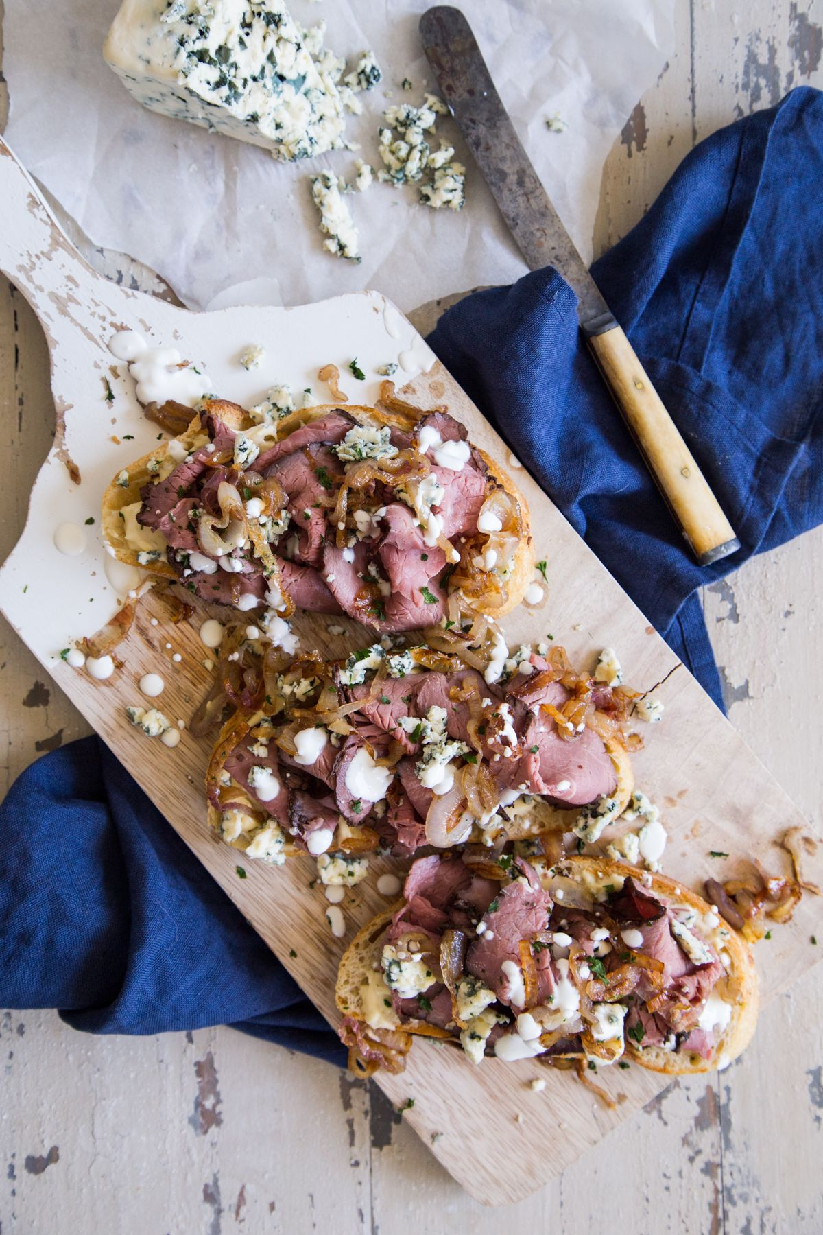 Roast Beef and Blue Cheese Tartine images