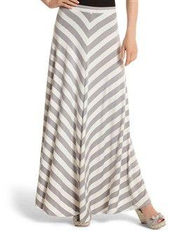 Grey chevron maxi skirt – Modern skirts blog for you