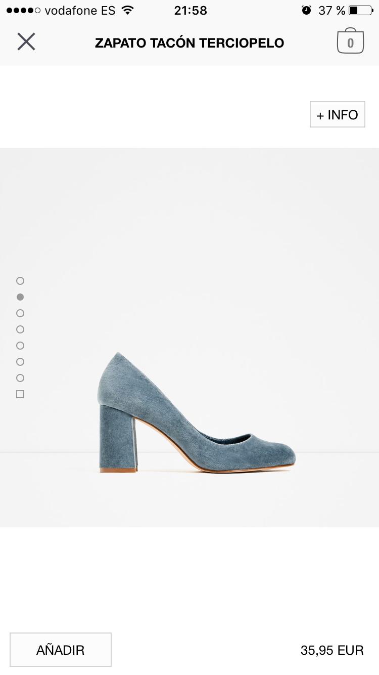 Zapato terciopelo abuela