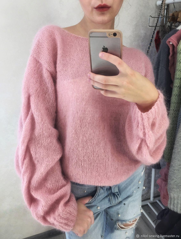 легкий свитер женский