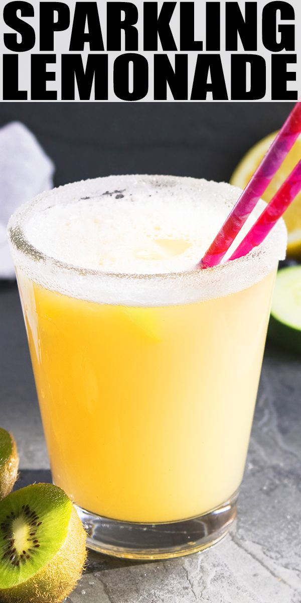 SPARKLING LEMONADE RECIPE- Quick, easy, fresh, homemade non alcoholic, made with simple ingredients, refreshing and bubbly. Perfect for weddings, picnics, parties {Ad} From cakewhiz.com #lemons #lemonade #drinks #recipe #beverages