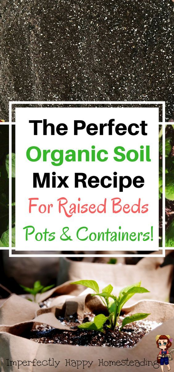 The Perfect DIY Organic Soil Mix For Your Garden Raised Bed, Pots And  Containers.