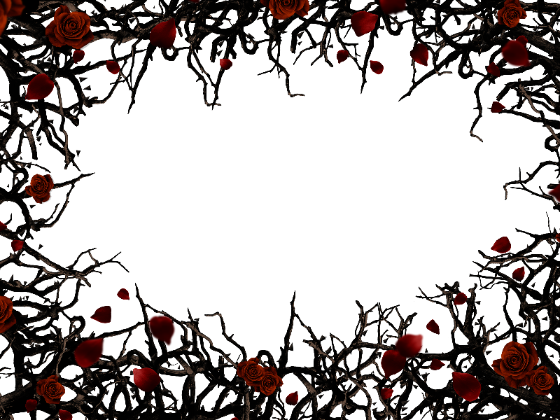 Roses And Thorns Border Frame Png Background Free Old Photo Texture Photo Texture Geometric Textures