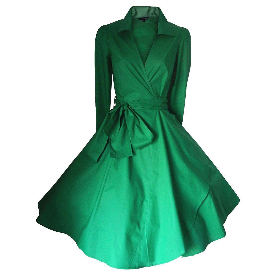 Womenus vintage s s shirtwaist flared dress swing skaters wrap